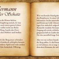 """Bankrücken """"Hermann und der Schatz"""""""
