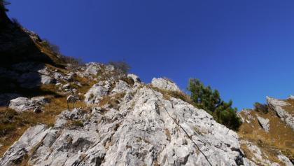 Im Klettersteig Carlo Guzzella