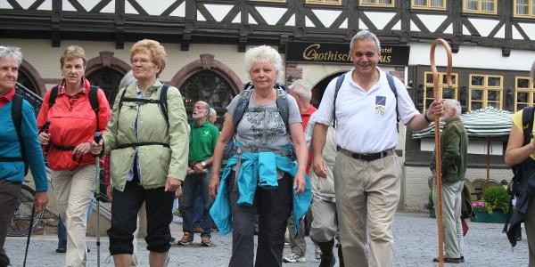 Auf dem Marktplatz Wernigerode