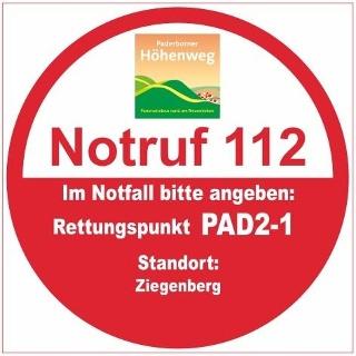 Rettungspunkt PAD2-1: Ziegenberg