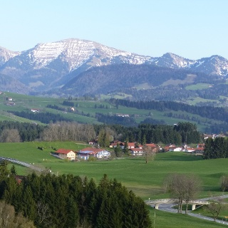 Westlicher oberberg 895 m, blick nagelfluhkette