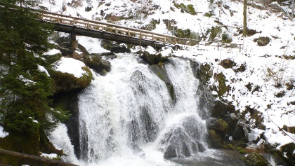 Triberger Wasserfall im Winter