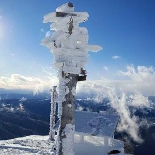 Aussichtspunkt Sattele im Skigebiet Reinswald (2.460 m)