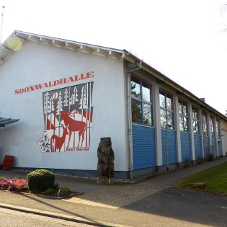 Startpunkt an der Soonwaldhalle in Ellern