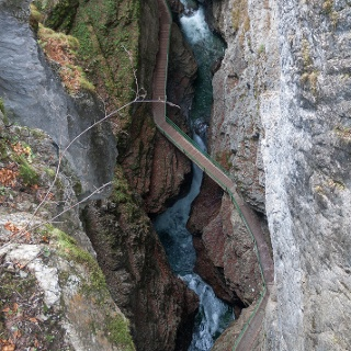 מבט מלמעלה על הנקיק מגשר התצפית העליון