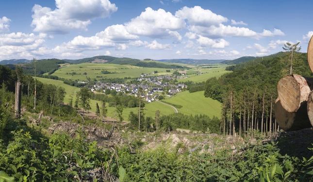 Blick auf das Naturdorf Bödefeld