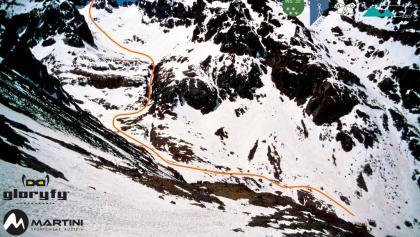 Akioud - Übersichtsbild mit Route - Topo
