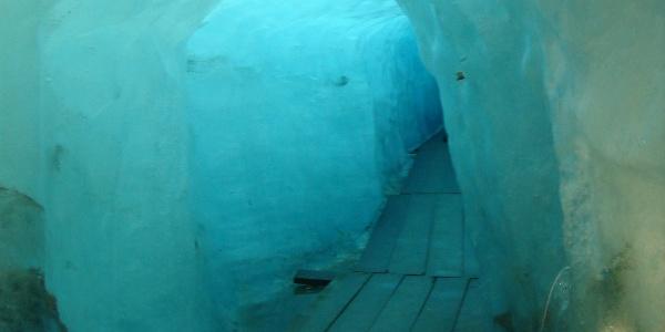 Ice cave in the Rhone glacier