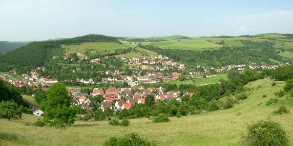 Panoramablick von der Jugendherberge auf Wolfstein