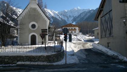 Kapelle an der Bushaltestelle in St. Valentin bei der Pension Hofer