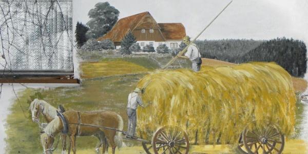 Fassadenbild eines Bauernhofes