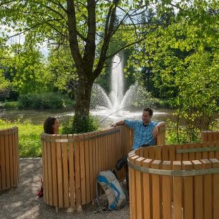 Themeninsel im Kurpark von Bad Wörishofen