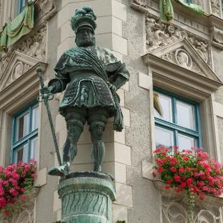 Frundsberg - Fassade in Mindelheim