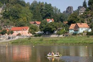 Foto Elbe bei Kurort Rathen