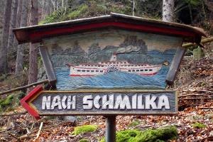 Foto Wanderwegweiser nach Schmilka