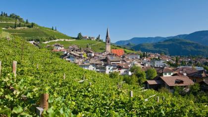 Das kleine Örtchen Tramin an der Südtiroler Weinstraße
