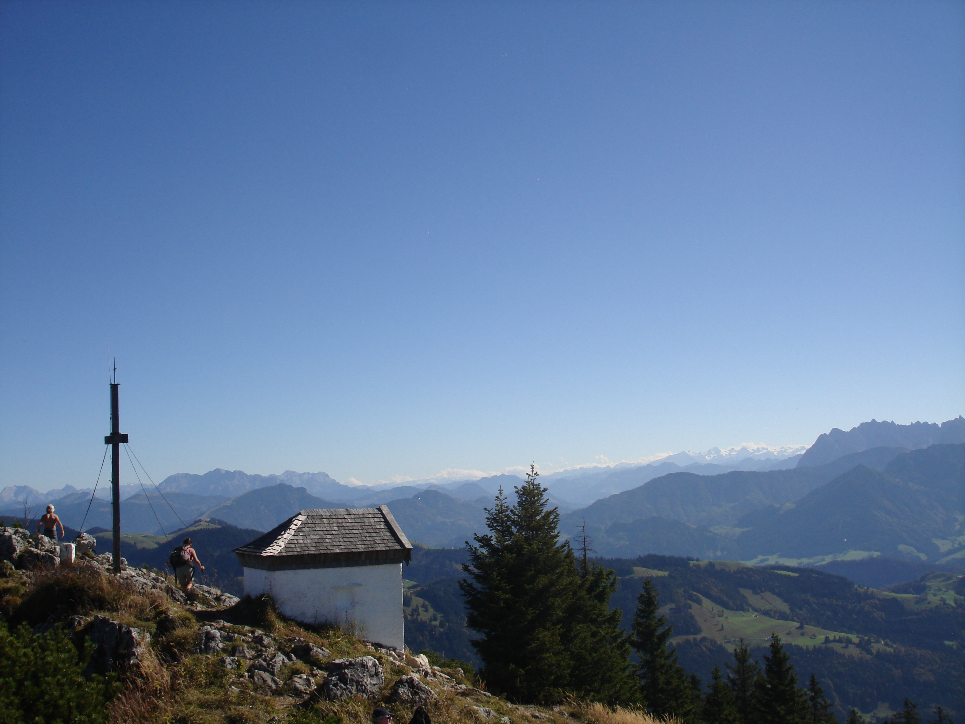 Spitzstein Gipfel mit Kapelle