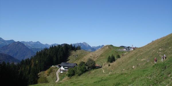 Weg Richtung Spitzsteinhaus oder Altkaseralm