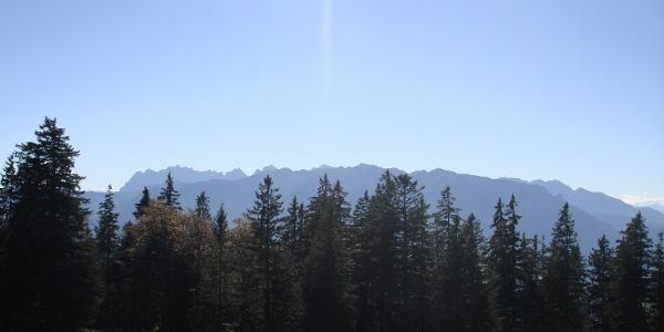 Blick auf das Kaisergebirge