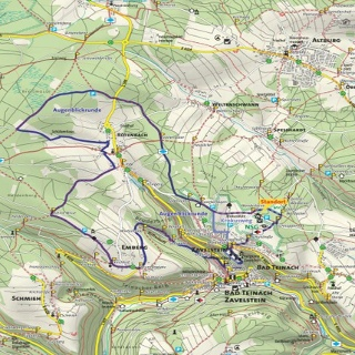 Kartenausschnitt Wandertafel