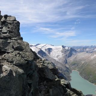 Finaler Höhepunkt: auf dem Gipfel des Hohen Tenn über dem Mooserbodensee