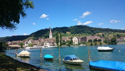 Stein am Rhein mit der Burg Hohenklingen