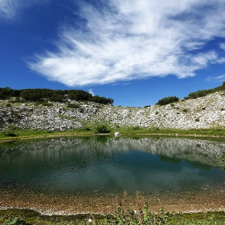 Crvenjak tarn on Cvrsnica mountain