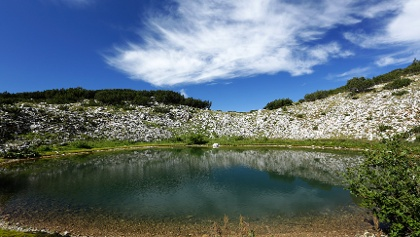 Crvenjak tarn on Cvrsnica mountain