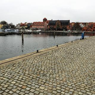 Der Hafen in Waren an der Müritz