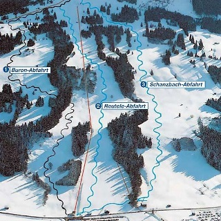 Winterpanorama Buron-Skililfte