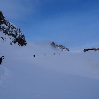 descending to col de la vallée étroite (valle streta)