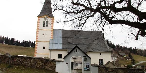 Trahütten, Pfarrkirche St. Nikolaus mit Friedhof