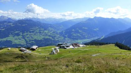 Blick auf die Bergstation Grüneck