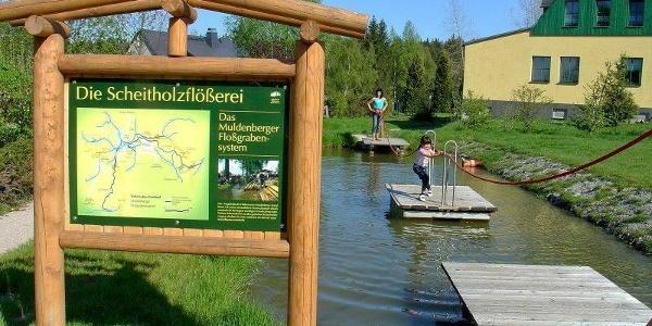 Flößerpark Muldenberg - eine Mischung aus Lehrpfad und Outdoorspielplatz