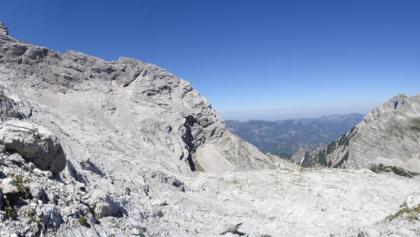 beim Abstieg hat man einen guten Blick auf den Verlauf vom Klettersteig