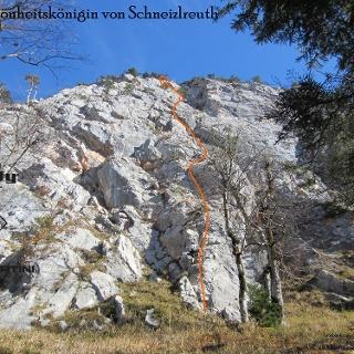 Die Schönheitskönigin von Schneizleuth - Topo - Routen in Wandbild