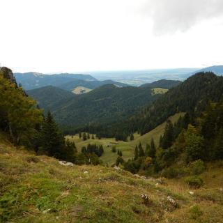 Blick zur Tiefental-Alm nach Nordosten