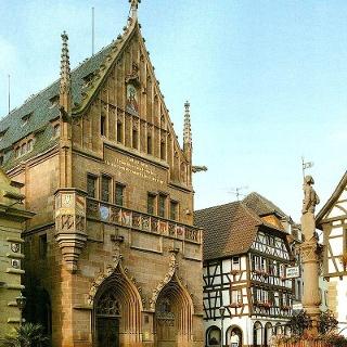 Marktplatz in Bretten mit Melanchthonhaus