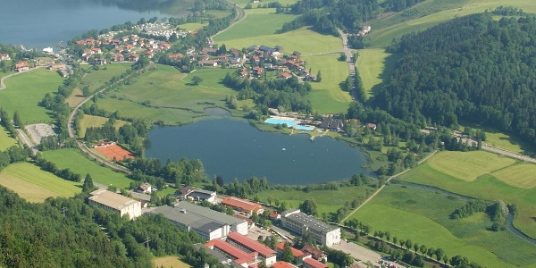 The Kleiner Alpsee and the outdoor pool
