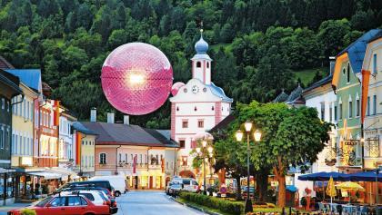 Hauptplatz Künstlerstadt Gmünd mit Stadtturm