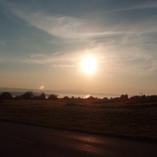 Sonnenaufgang über dem Bodensee