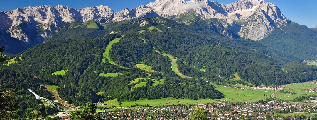Sommerpanorama in Garmisch-Partenkirchen