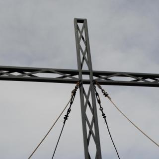 Gipfelkreuz Schöpfl Detail