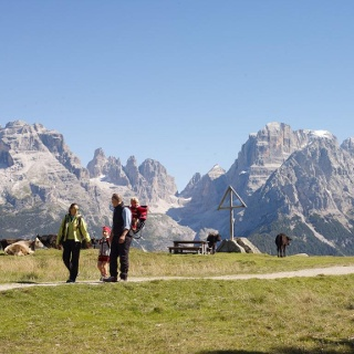 Panoramic view on the Brenta Dolomites