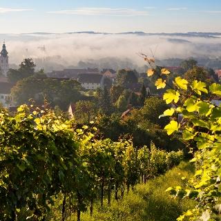 Herbststimmung über Hartberg