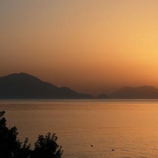 Sonnenaufgang über Salina