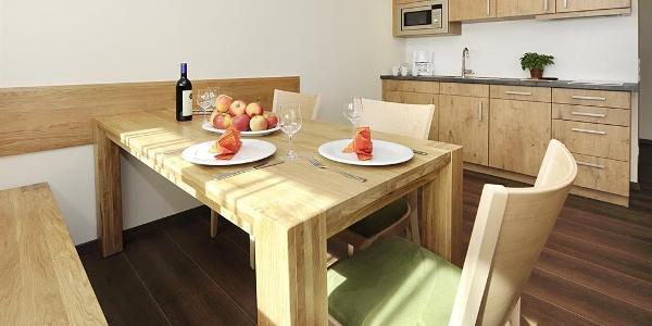 Küche Apartment 2 + 3