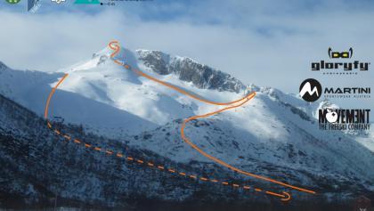 Rundfjellet Topo - Übersicht der Anstiege von Norden