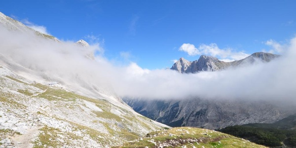 Gipfelblicke, Nebelschwaden