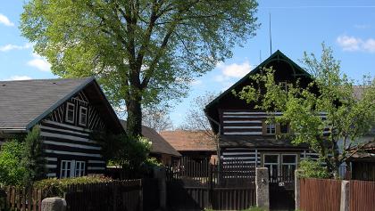 Traditionelle Häuser im Cesky raj